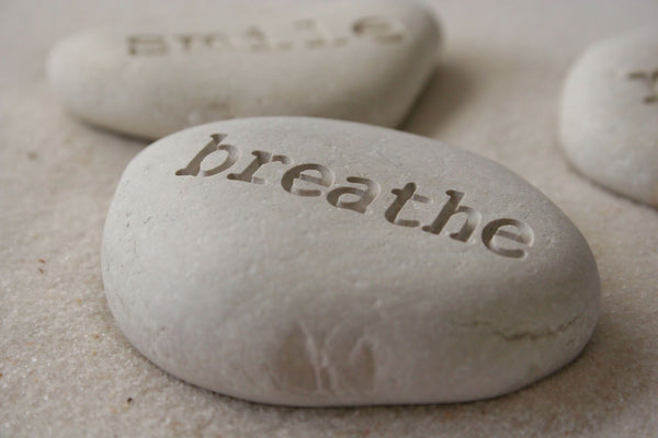 Personalized Beach Pebbles - Engraved Inspirational Stone Trio - Engraved beach stones by SJ-Engraving