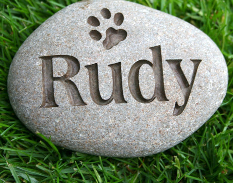 Customized Pet Memorial  -  Engraved memorial stone