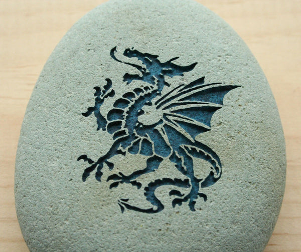 DRAGON Home Decor paperweight collections - engraved stone art