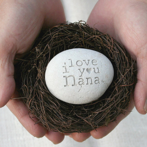 Grandmother gift  - message nest by SJ-Engraving