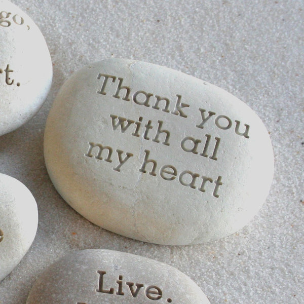 Message stone - Custom text engraved on beach stone - engraved gift by sjEngraving