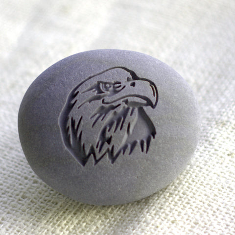 Eagle - Home Decor paperweight collections - Ready to Ship - engraved stone by SJ-Engraving