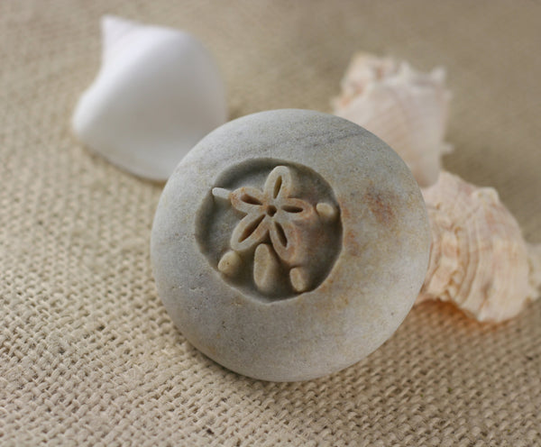 SAND DOLLAR - engraved stone ready gift hand carved by sjEngraving