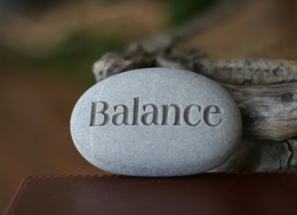 Balance - Ready to ship Gift - Engraved Inspirational Word on beach stone