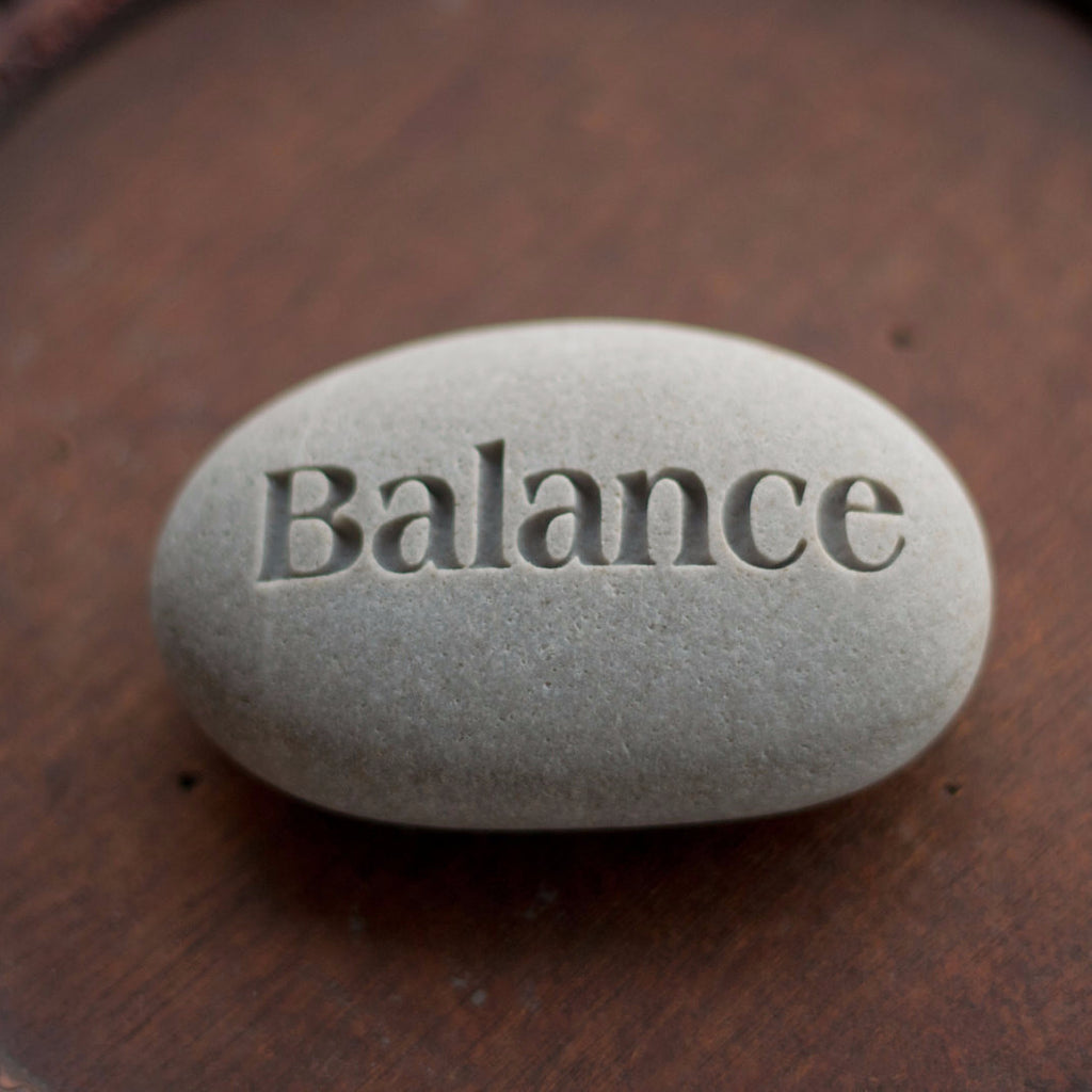 Balance Ready To Ship Gift Engraved Inspirational Word