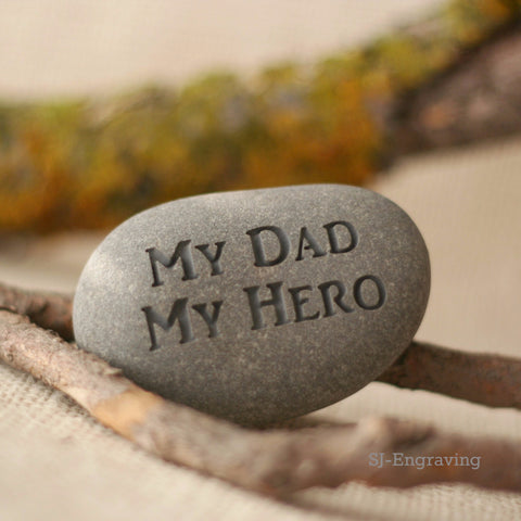Hand carved gift for Daddy - My Dad My Hero - Gift for father
