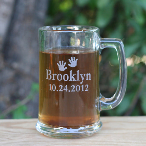 Personalized engraved gift - for New dad, New father, new grandpa...  - engraved beer mug by SJ-Engraving