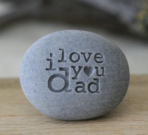 Engraved i love you dad - exclusive design by SJ-Engraving