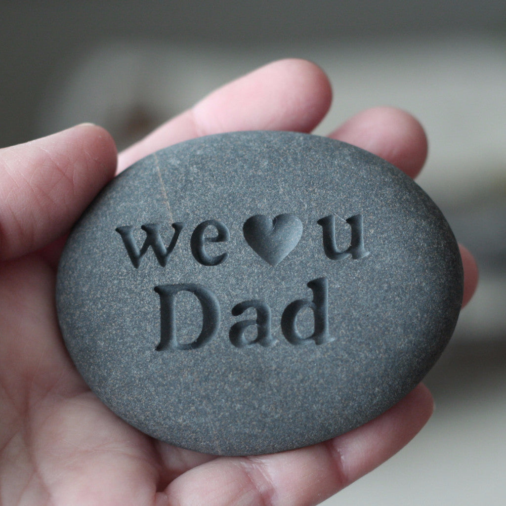 Engraved stone for dad, grandpa... - exclusive design by SJ-Engraving