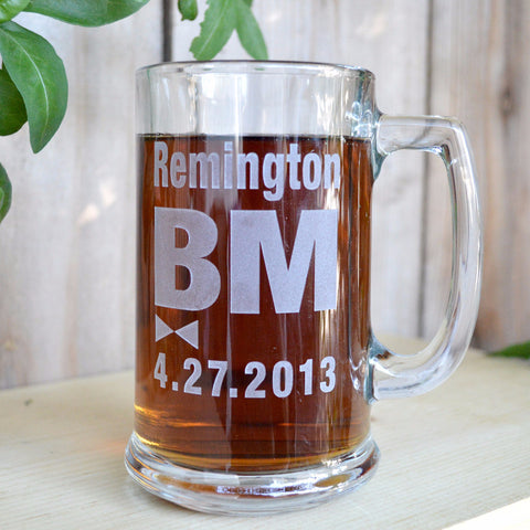 Best man beer mug - personalized engraved by SJ-Engraving