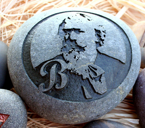 Johannes Brahms - stone art gift for classical music lovers - exclusive creation by sjEngraving
