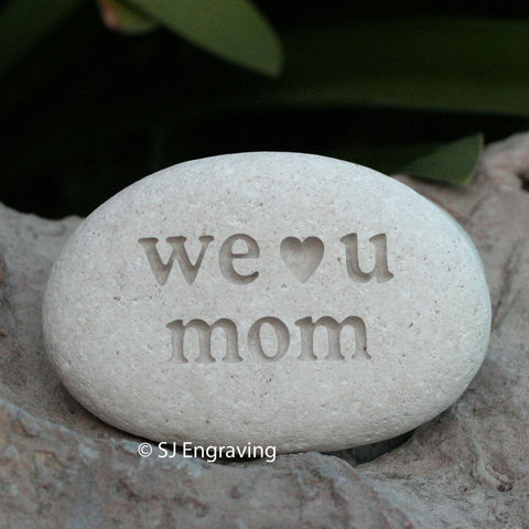Engraved stone for mother - exclusive design by SJ-Engraving