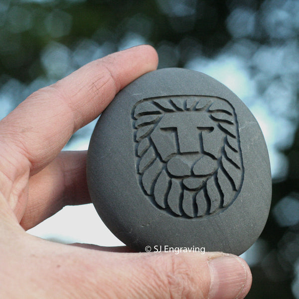 Lion Stone Talisman - Home decor paperweight