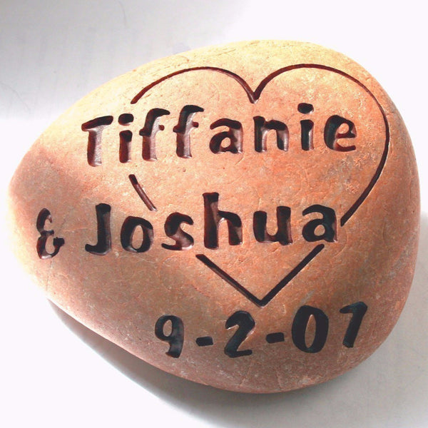 Custom wedding gift - Love rocks - engraved oathing stone for couple - commitment, wedding or anniversary