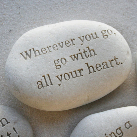 Message Stone - custom text on beach pebble by SJ-Engraving