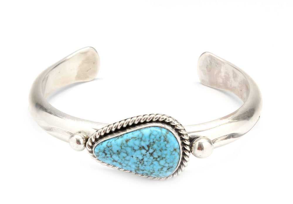Kingman Blue Deep Stamp Cuff Bracelet