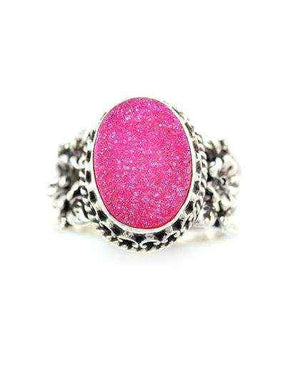 Aldrich Art-Sorrel Sky Gallery-Jewelry-Pink Druzy Ring