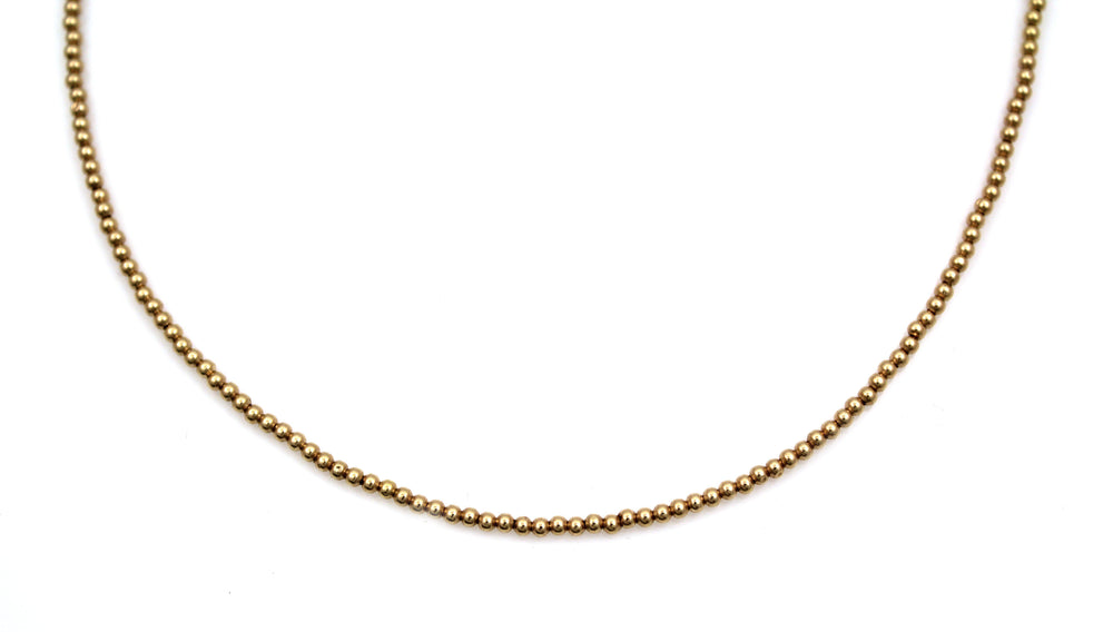 14kt Gold Beaded Necklace