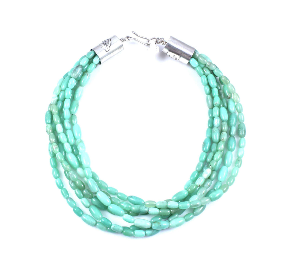 Barrel Chrysoprase Necklace