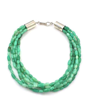 Alfred Lee Jr-Sorrel Sky Gallery-Jewelry-Five Strand Chrysophase Necklace