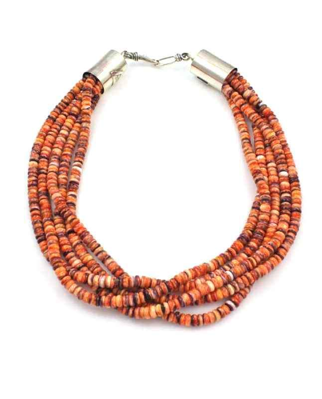 Alfred Lee Jr-Sorrel Sky Gallery-Jewelry-Five Strand Spiny Oyster Necklace