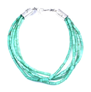 Alfred Lee Jr-Sorrel Sky Gallery-Jewelry-Large Heishi Chrysoprase Beaded Necklace