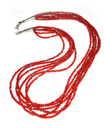 Six Strand Coral Necklace