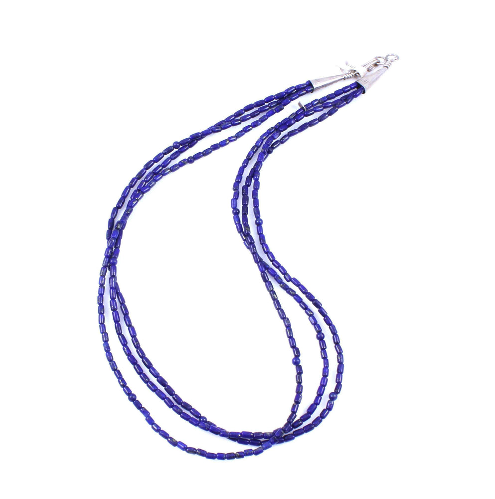 Three Strand Lapis Necklace