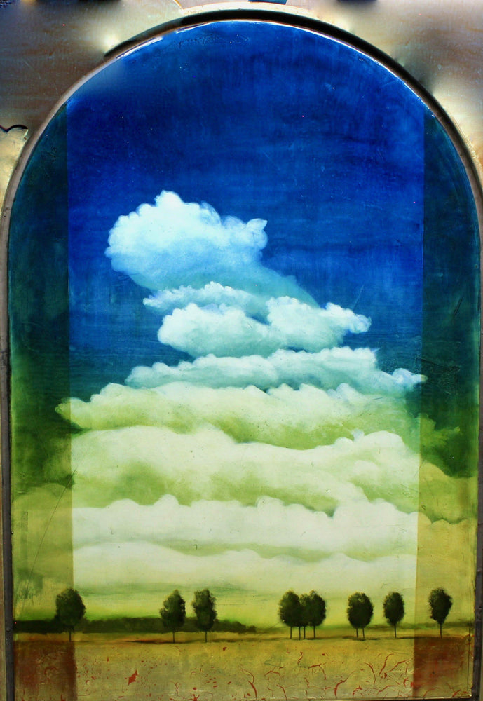 Aline Randle-Sorrel Sky Gallery-Painting-New Mexico Clouds