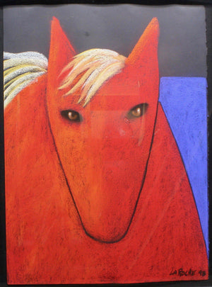 Aline Randle-Sorrel Sky Gallery-Painting-Red Horse