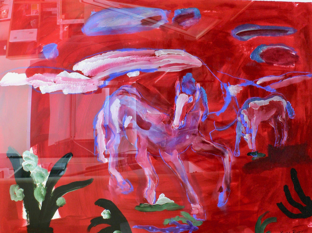 Aline Randle-Sorrel Sky Gallery-Painting-Red Horses