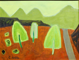 Aline Randle-Sorrel Sky Gallery-Painting-Road to Black Mesa