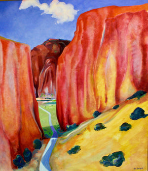 Aline Randle-Sorrel Sky Gallery-Painting-Road to Chama