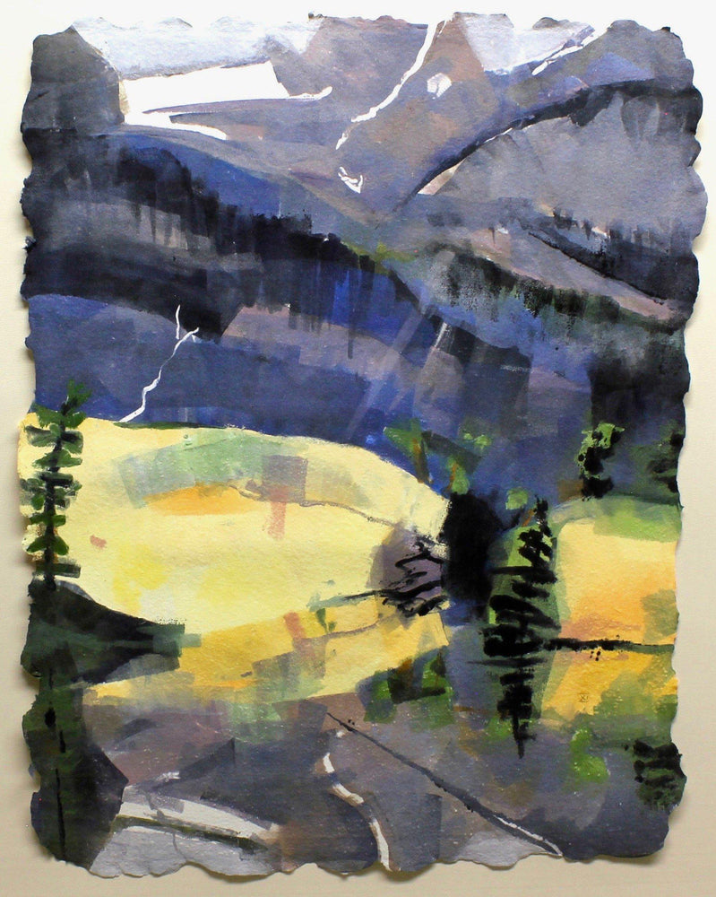 Aline Randle-Sorrel Sky Gallery-Painting-The Loch, Rocky Mnt Ntl Park XI