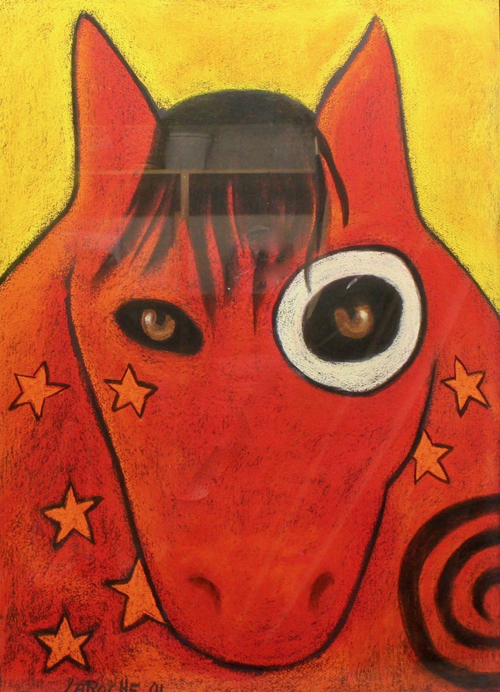Aline Randle-Sorrel Sky Gallery-Painting-War Horse