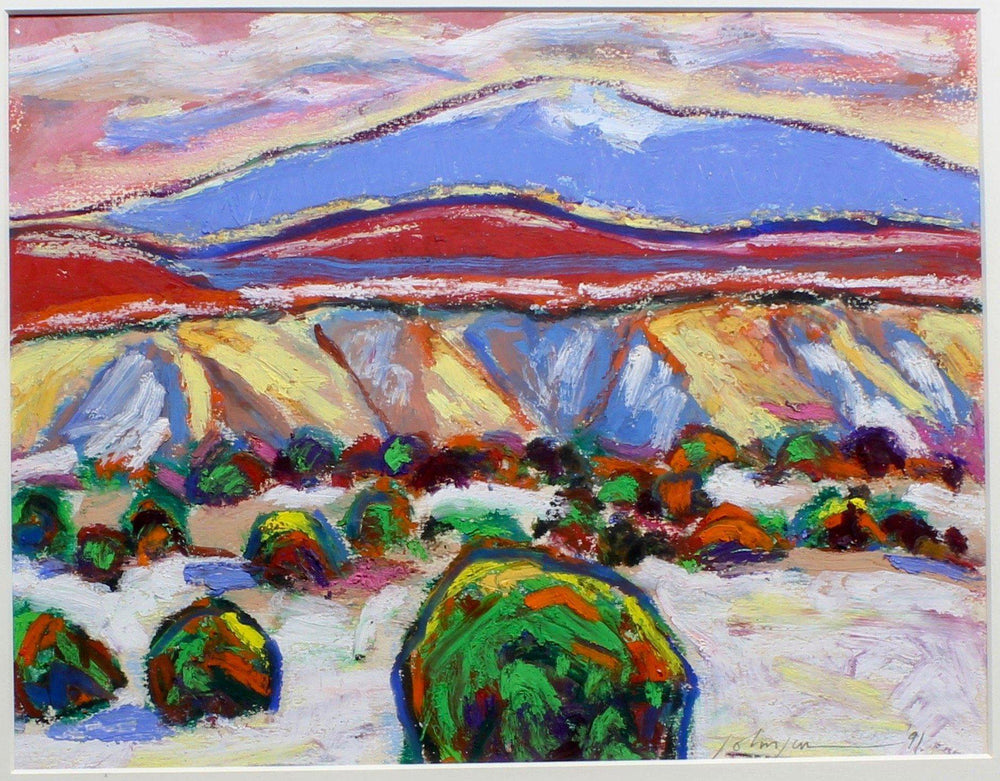 Aline Randle-Sorrel Sky Gallery-Painting-Winter in the Badlands