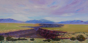Anita Blythe-Sorrel Sky Gallery-Painting-Cloudy Morning at the Gorge