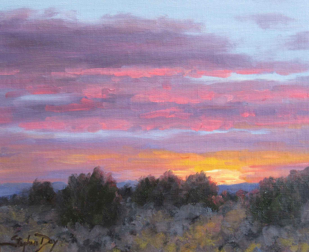 Another Evening sunset painting. Stephen Day. Sorrel Sky Gallery