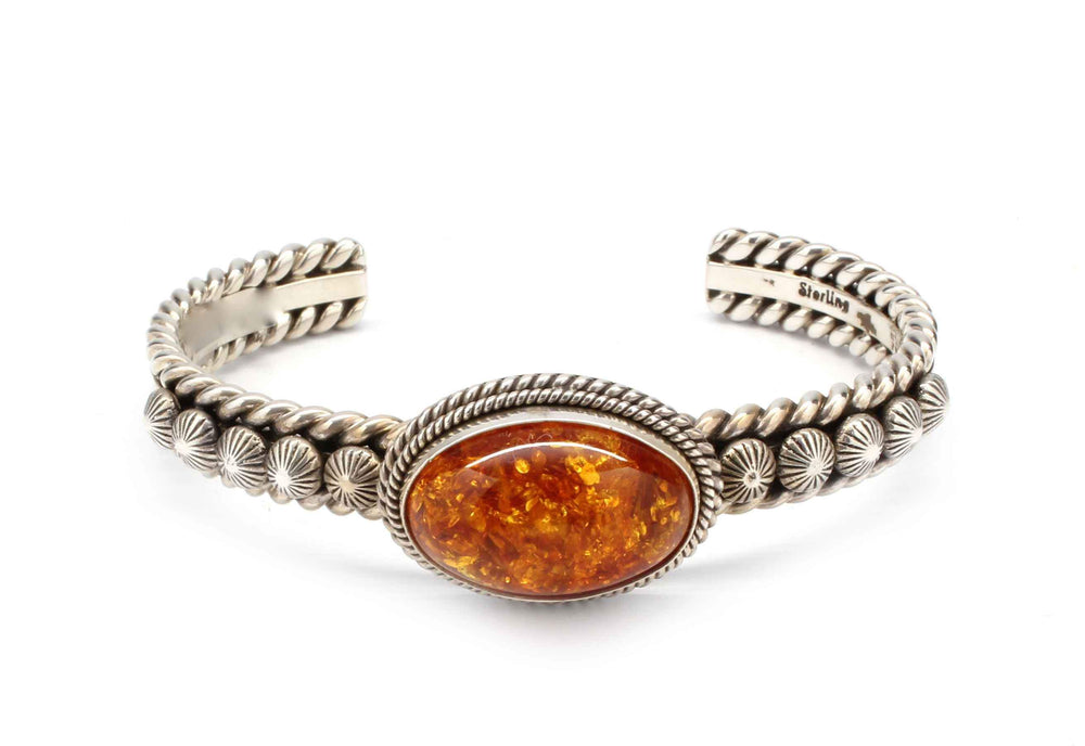 Artie Yellowhorse-Amber Bracelet-Sorrel Sky Gallery-Jewelry