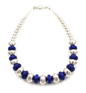 Beads With Lapis Necklace-Jewelry-Artie Yellowhorse-Sorrel Sky Gallery