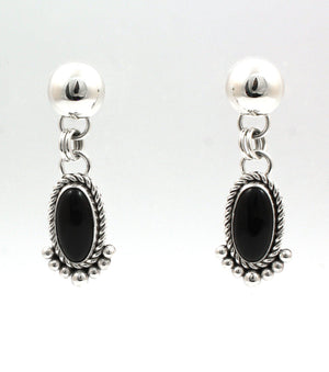 Black Onyx Earrings-Jewelry-Artie Yellowhorse-Sorrel Sky Gallery