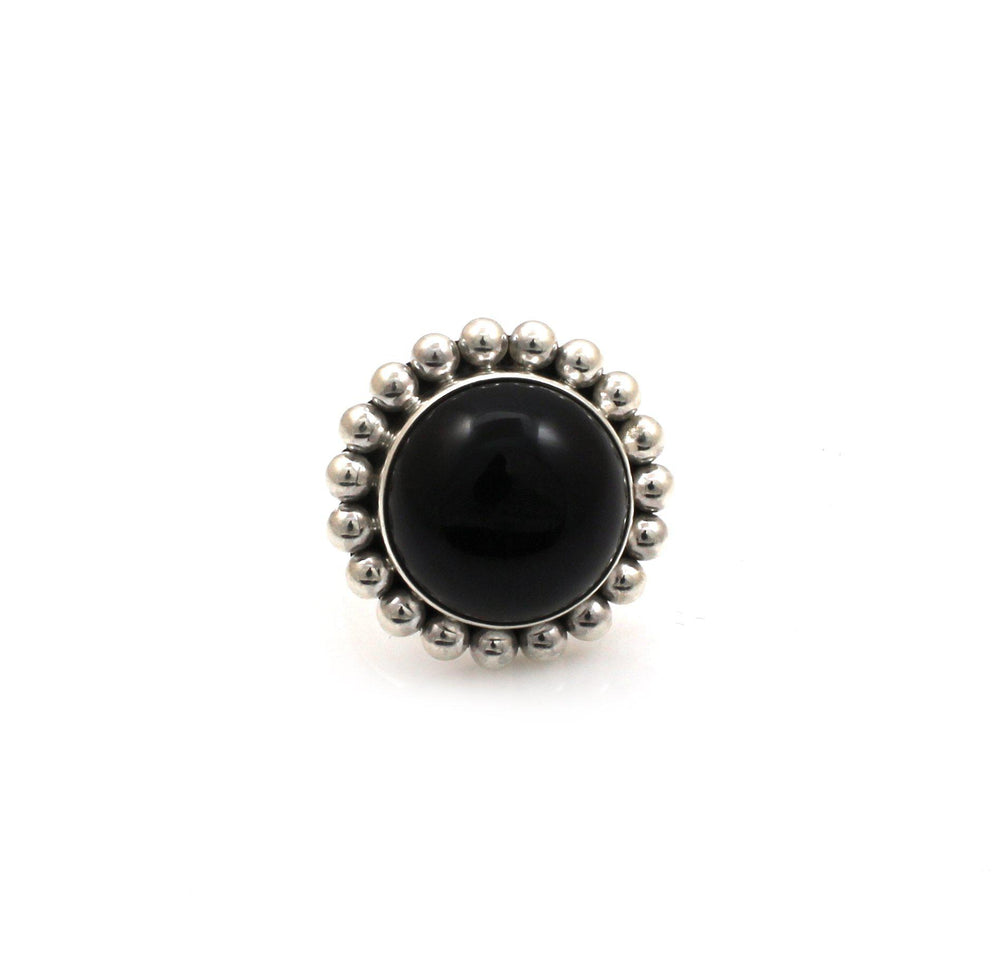 Black Onyx Ring-Jewelry-Artie Yellowhorse-Sorrel Sky Gallery