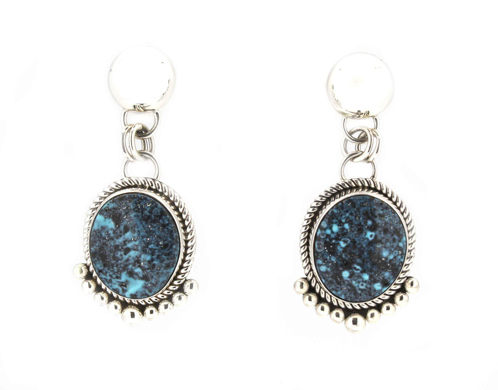Blue Diamond Turquoise Post Earrings