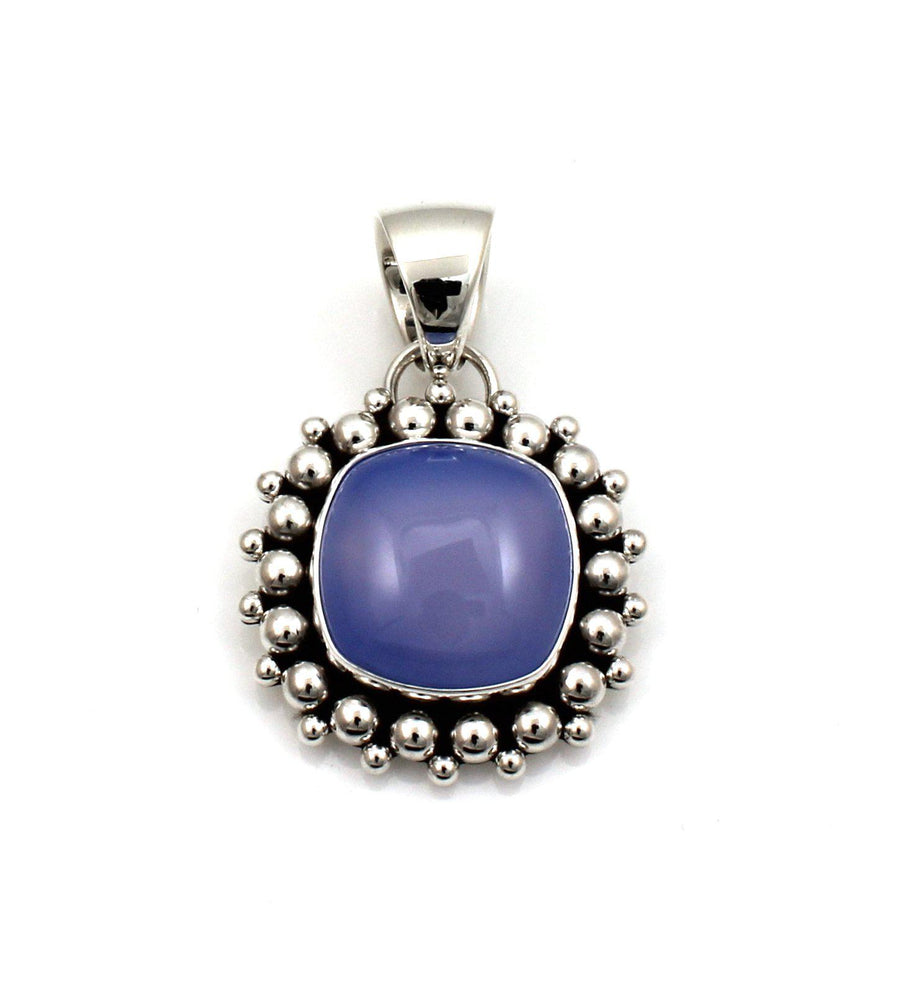 Chalcedony Cushion Pendant