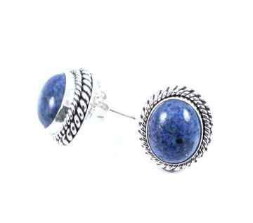 Artie Yellowhorse-Denim Lapis Earrings-Sorrel Sky Gallery-Jewelry