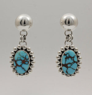 Egyptian Turquoise Dangle Earrings