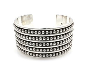 Five Row Wide Cuff Bracelet