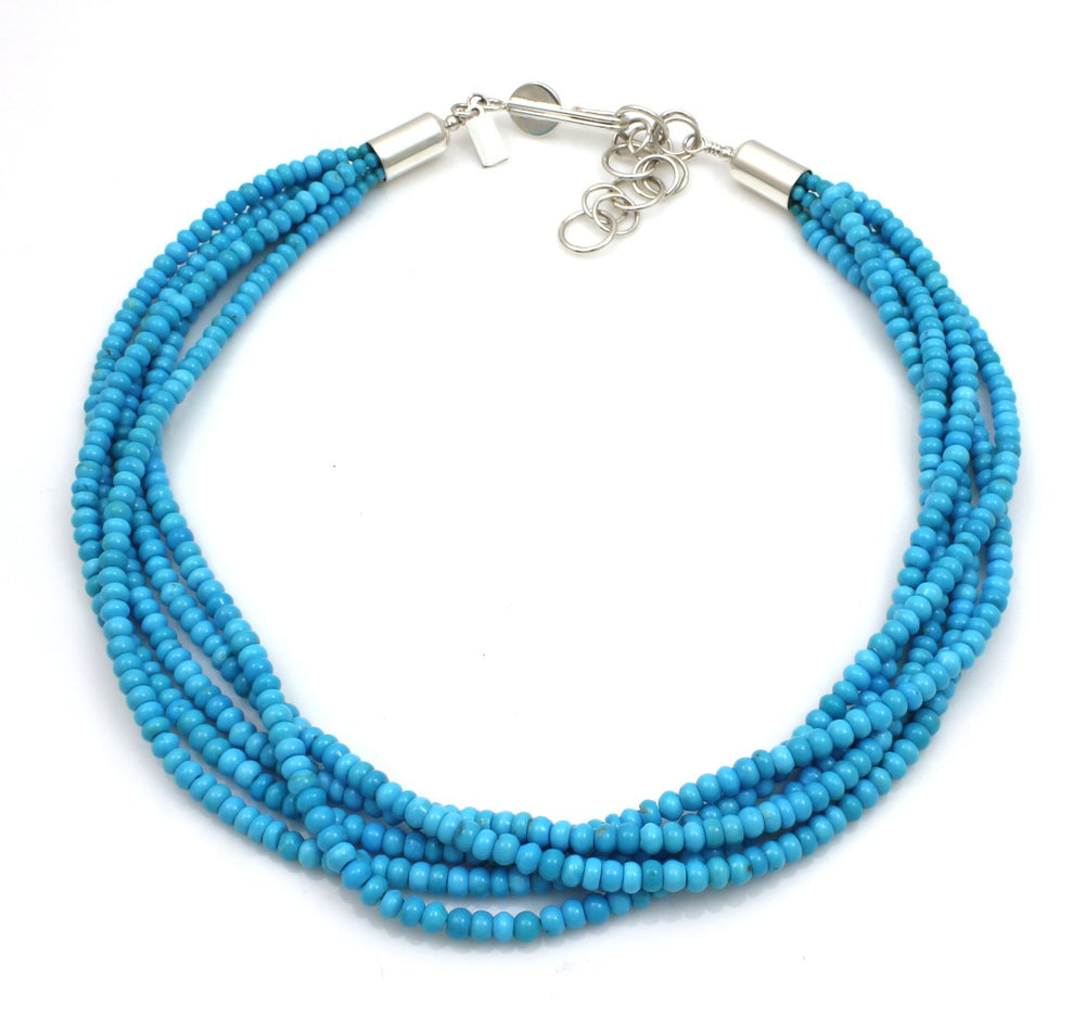 Five Strand Turquoise Necklace