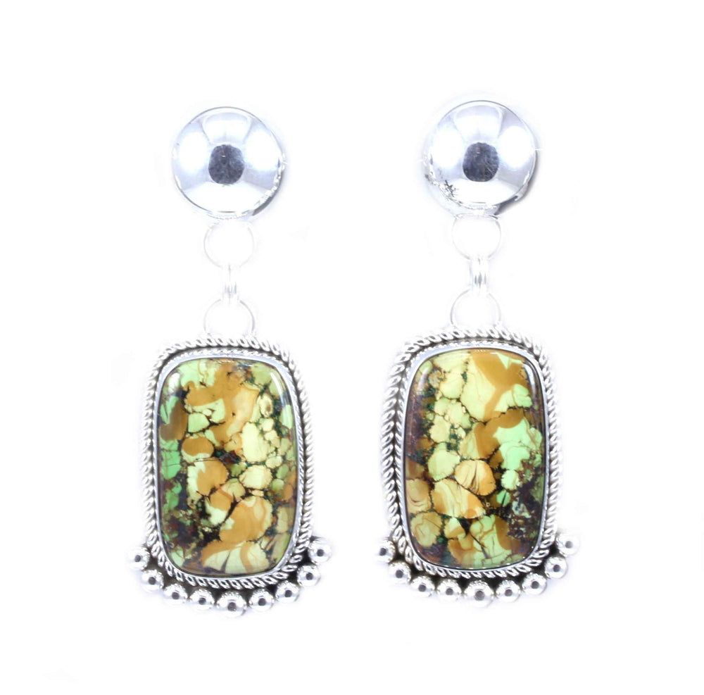 Gaspeite Drop Earrings