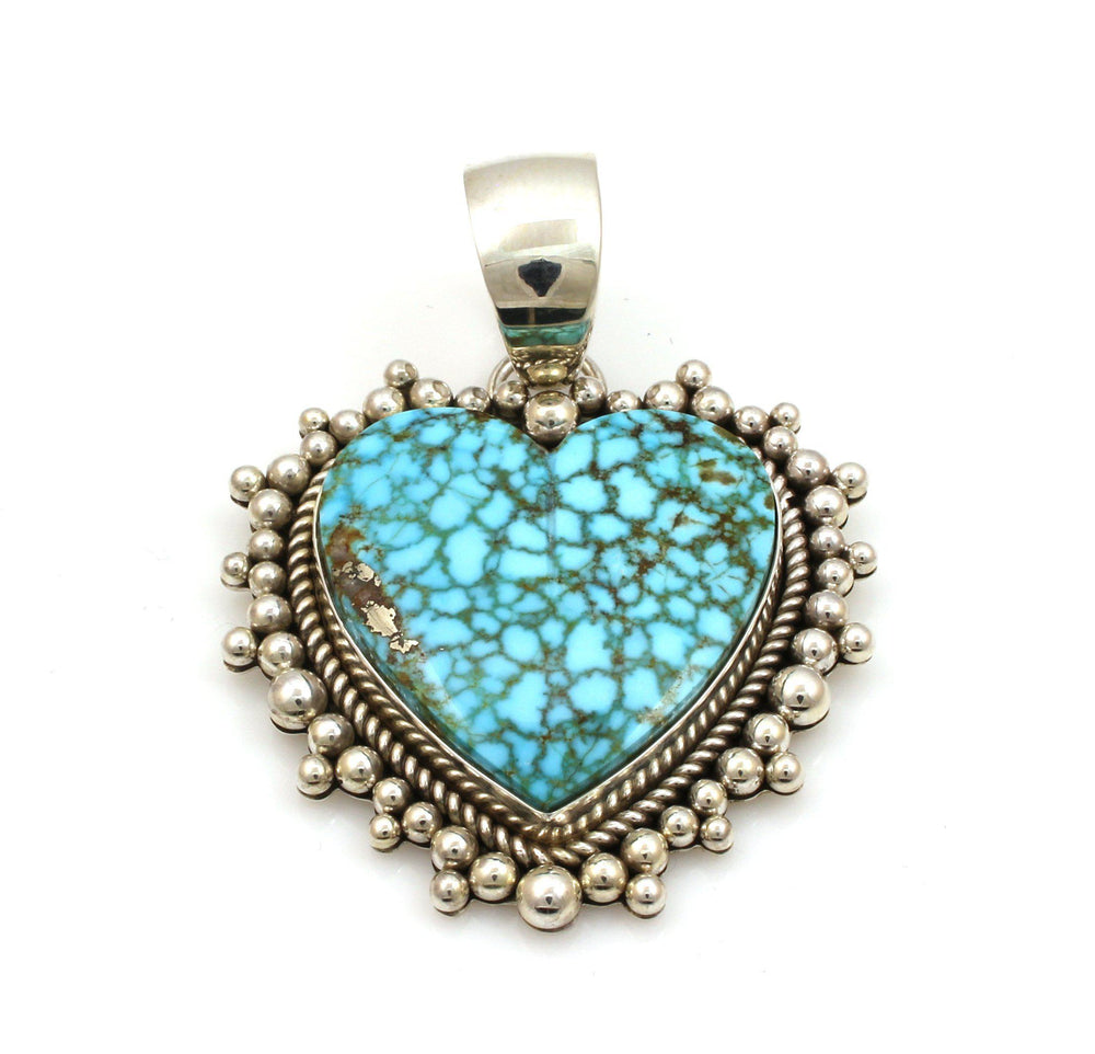 Kingman Heart Pendant-Jewelry-Artie Yellowhorse-Sorrel Sky Gallery